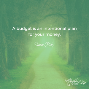 A Budget is an Intentional Plan for Your Money - How to Create a Monthly Household Budget, printable budget, budget worksheet, finance binder, family budget, budget planner