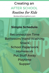 After School Routine for Kids – An after school schedule for elementary students with tips and ideas for less chaos after school.