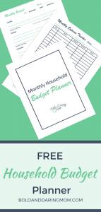 Free Household Budget Planner - printable budget, budget worksheet, finance binder, family budget, budget planner